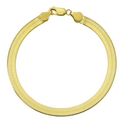 Womens 7 Inch 10K Gold Chain Bracelet