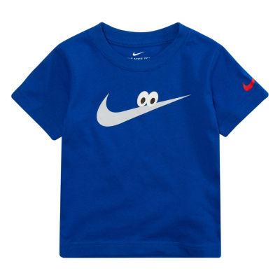 Nike Short Sleeve Round Neck T-Shirt-Toddler Boys