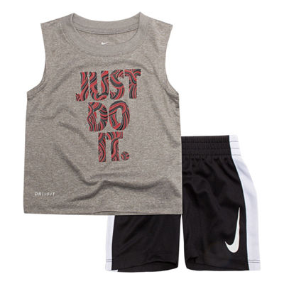 Nike 2-pc. Just Do It Muscle Tee Short Set- Baby Boys