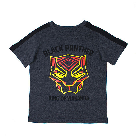 Marvel Boys Crew Neck Short Sleeve Black Panther Graphic T-Shirt-Toddler