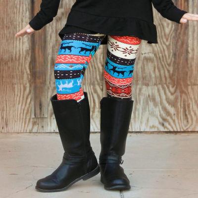Mayah Kay Fashion Girls Winter Print Leggings