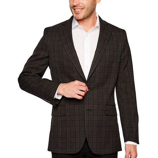 Stafford Year Round Stretch Classic Fit Windowpane Sport Coat