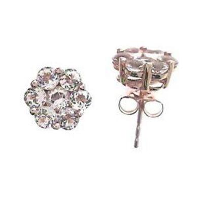 Genuine Pink Morganite 10K Rose Gold 9mm Stud Earrings