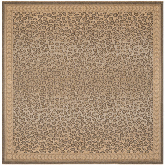 Safavieh Courtyard Collection Daithi Animal Indoor/Outdoor Square Area Rug