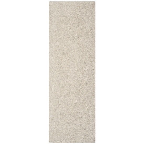 Safavieh New York Shag Collection Jayla Solid Runner Rug