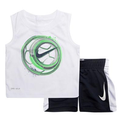 Nike 2-pc. Swoosh Muscle Tee Short Set- Baby Boys