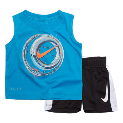Nike 2-pc. Soccer Ball Muscle Tee Short Set- Baby Boys