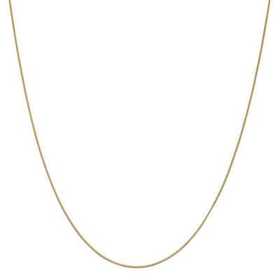 14K Gold 14 Inch Solid Box Chain Necklace
