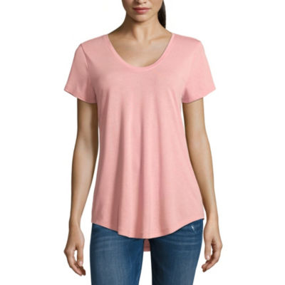 a.n.a Ana Scoop Neck Tee Short Sleeve Scoop Neck T-Shirt-Womens