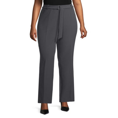 Worthington Womens Modern Fit Straight Trouser-Plus