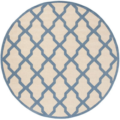 Safavieh Linden Collection Neasa Geometric Round Area Rug