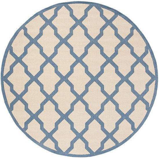 Safavieh Linden Collection Neasa Geometric Round Area Rug
