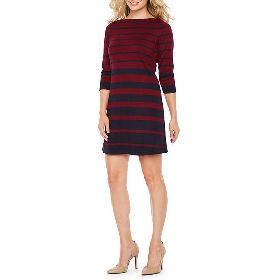 d79d181cf8 Alyx 3 4 Sleeve Sweater Dress-Petite - JCPenney