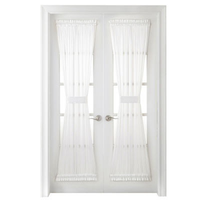 JCPenney Home Hilton Light-Filtering Rod-Pocket Single Door Panel Curtain