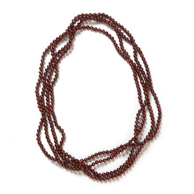 Womens 5-7MM Brown Cultured Freshwater Pearl Strand Necklace