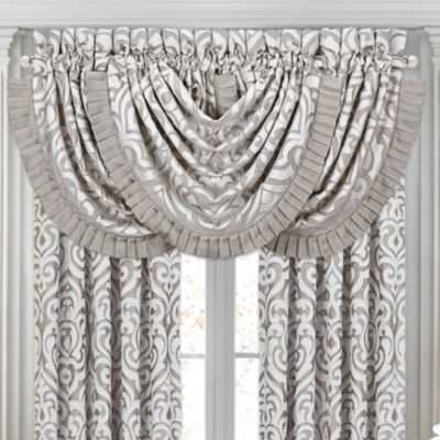 Queen Street Lakeview Rod-Pocket Waterfall Valance