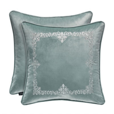 Queen Street Delphina 18x18 TOB Embrodiery Square Throw Pillow