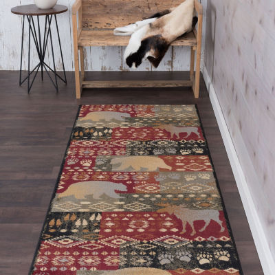 Tayse Fly Fishing Novelty Lodge Runner Rug