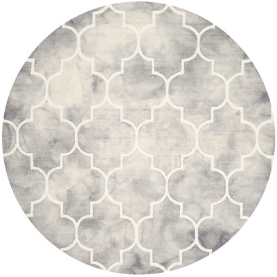 Safavieh Dip Dye Collection Sierra Geometric RoundArea Rug