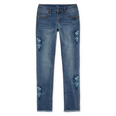 Arizona Tonal Embroidery Skinny Jean Girls 4-16 and Plus
