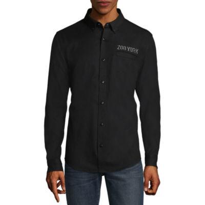 Zoo York Mens Long Sleeve Button-Front Shirt