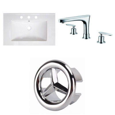 30-in. W 3H8-in. Ceramic Top Set In White Color -CUPC Faucet Incl.