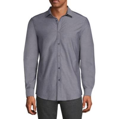 Axist Long Sleeve Diamond Button-Front Shirt