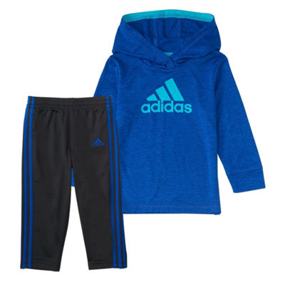Adidas 2-Pc. Melange Hood Set - Baby Boys