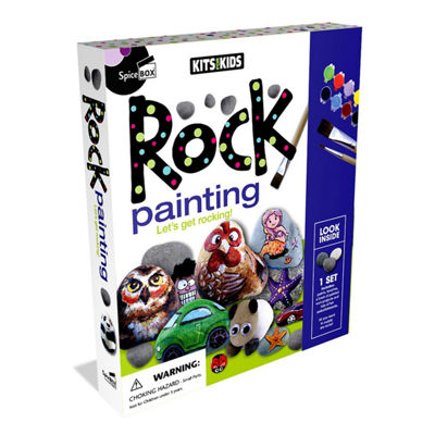 Spicebox Kits For Kids Rock Painting Kit