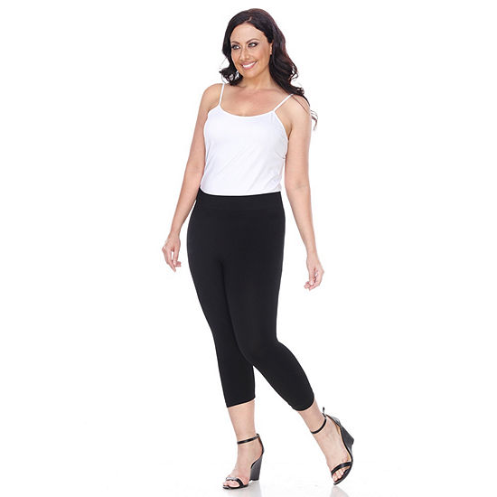 White Mark Plus Size Super Soft Capri Leggings (One Size Fits Most)