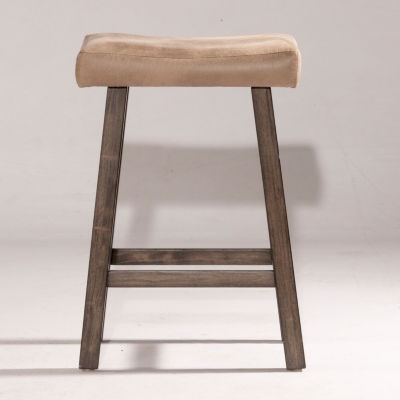 Saddle Non Swivel Backless Counter Stool