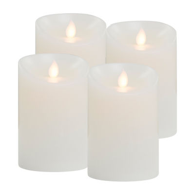 Sharper Image Led Flicker With Timer 4-pc. Flameless Candle