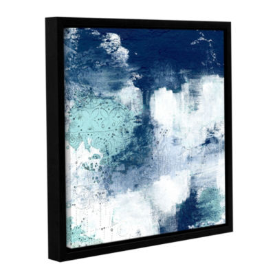 Navy II Floater-Framed Gallery Wrapped Canvas