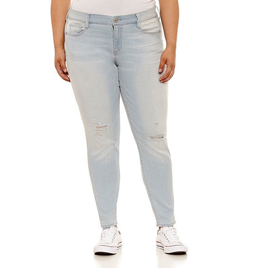 Arizona Womens Low Rise Skinny Fit Jean - Juniors