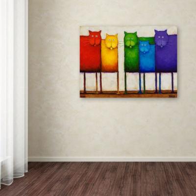 Trademark Fine Art Daniel Patrick Kessler RainbowCats Giclee Canvas Art