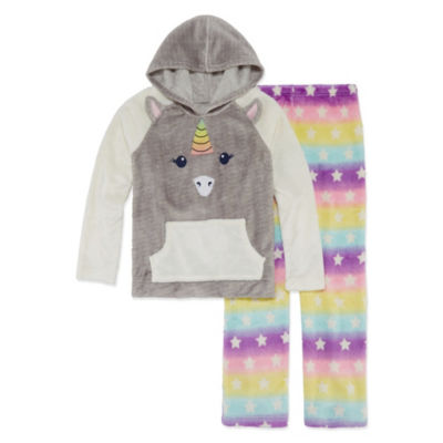 Arizona 2pc Unicorn Hoodie/Jogger Sleep Set Big Girl & Plus