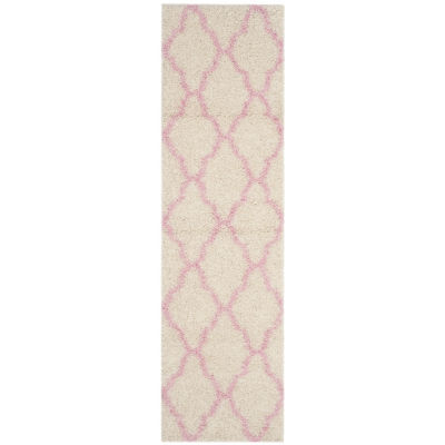 Safavieh Dallas Shag Collection Caris Geometric Runner Rug