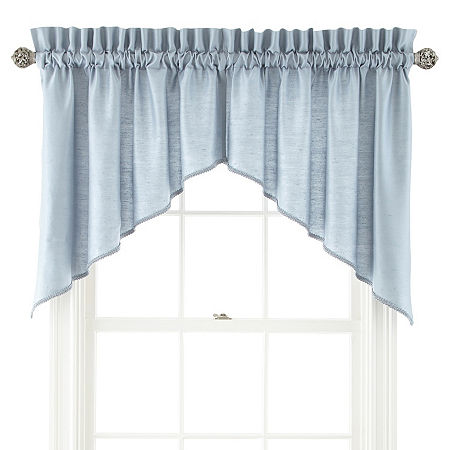 JCPenney Home Supreme Rod-Pocket Shaped Valance, One Size , Blue