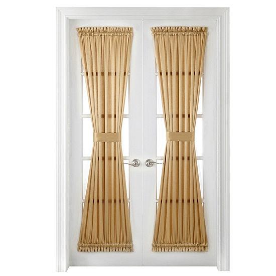 JCPenney Home Hilton Light-Filtering Rod-Pocket Single Door Panel Curtain