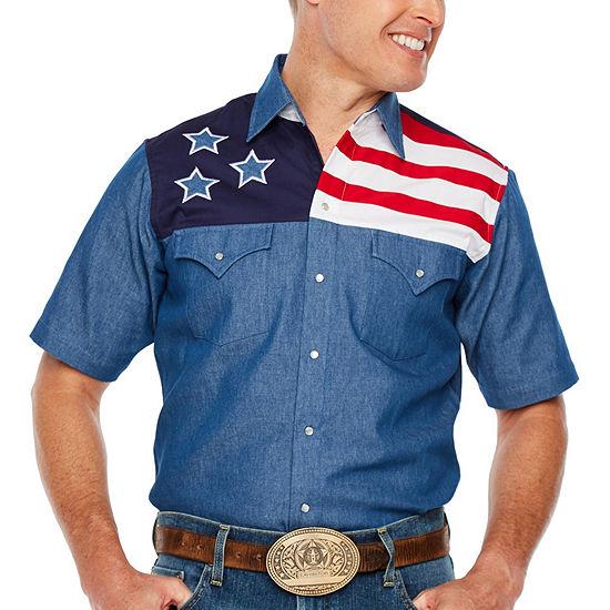 Ely Cattleman Mens Short Sleeve Button-Front Shirt