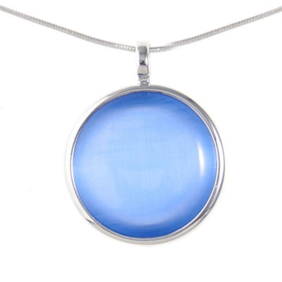 Liz Claiborne Womens Blue Round Pendant Necklace