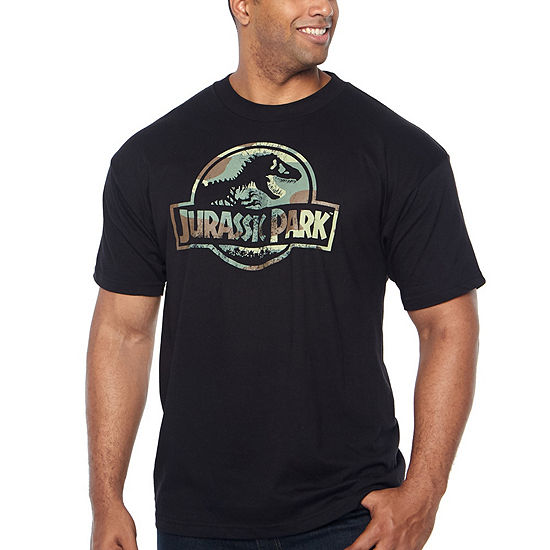 Mens Crew Neck Short Sleeve Jurassic World Graphic T Shirt Big And Tall