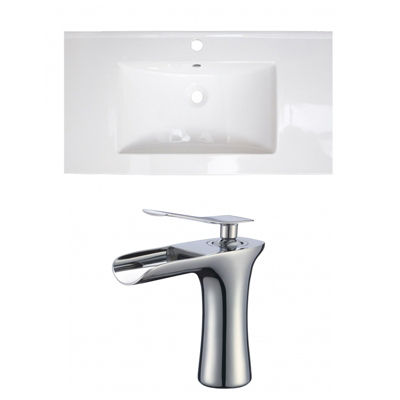 32-in. W 1 Hole Ceramic Top Set In White Color - CUPC Faucet Incl.