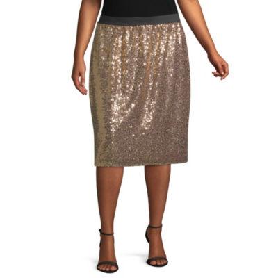 Worthington Sequin Skirt - Plus