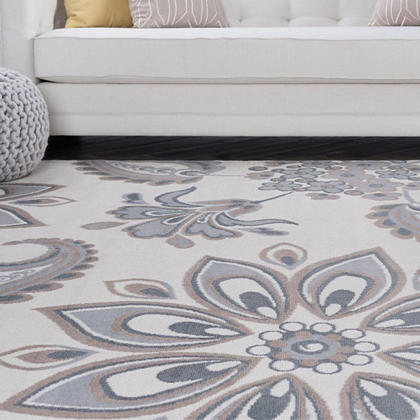 Tayse Matilda Transitional Floral Area Rug