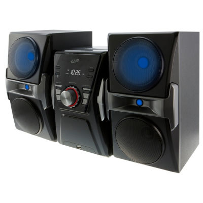 iLive IHB624B Bluetooth Home Music System with CD/FM Tuner and LED Lights