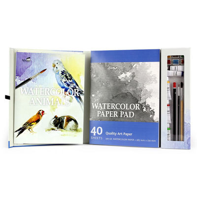 Spicebox Master Class Paiting Watercolor Birds & Animals Kit