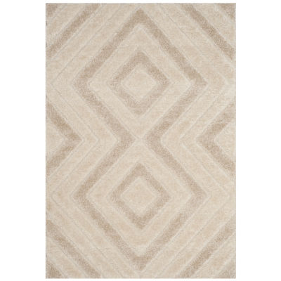 Safavieh Memphis Shag Collection Glen Geometric Area Rug