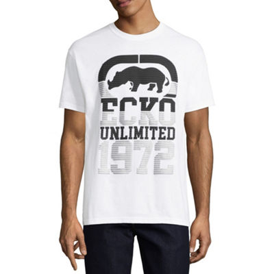 Ecko Unltd Mens Crew Neck Short Sleeve Logo Graphic T-Shirt