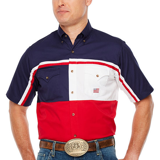 Ely Cattleman Mens Short Sleeve Western Shirt